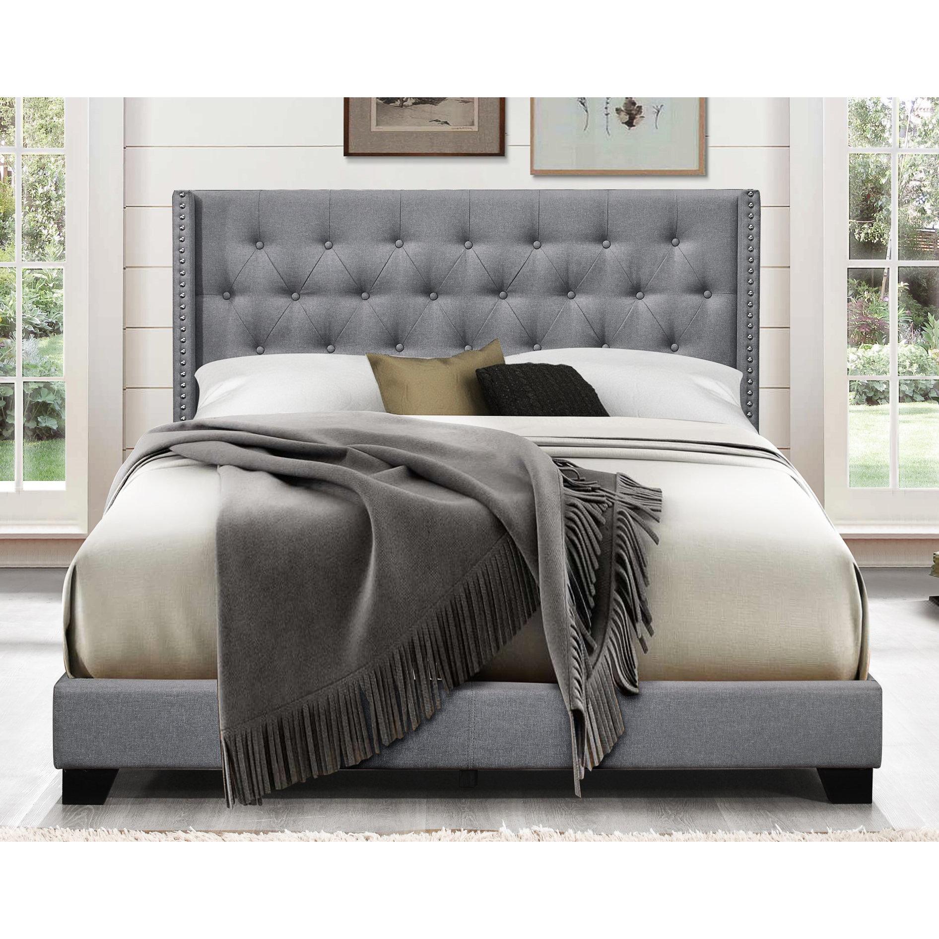 Aadvik Tufted Upholstered Standard Bed