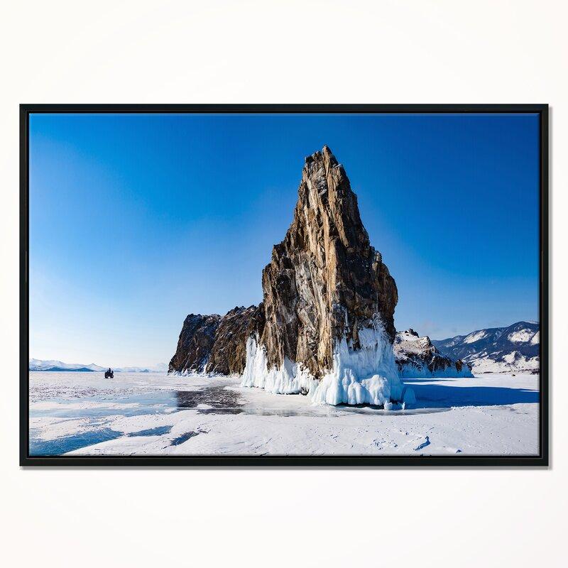 East Urban Home Winter Lake Baikal Panorama Framed Photographic Print On Wrapped Canvas Wayfair