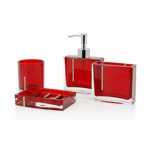 Red Bathroom Sets | Red Bathroom Accessories You Ll Love Wayfair