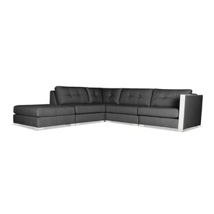Steffi Buttoned Modular Sectional with Ottoman