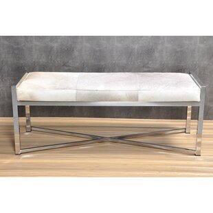 Gideoon Leather Bench