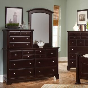 Darby Home Co Cedar Drive 10 Drawer Double Dresser with Mirror