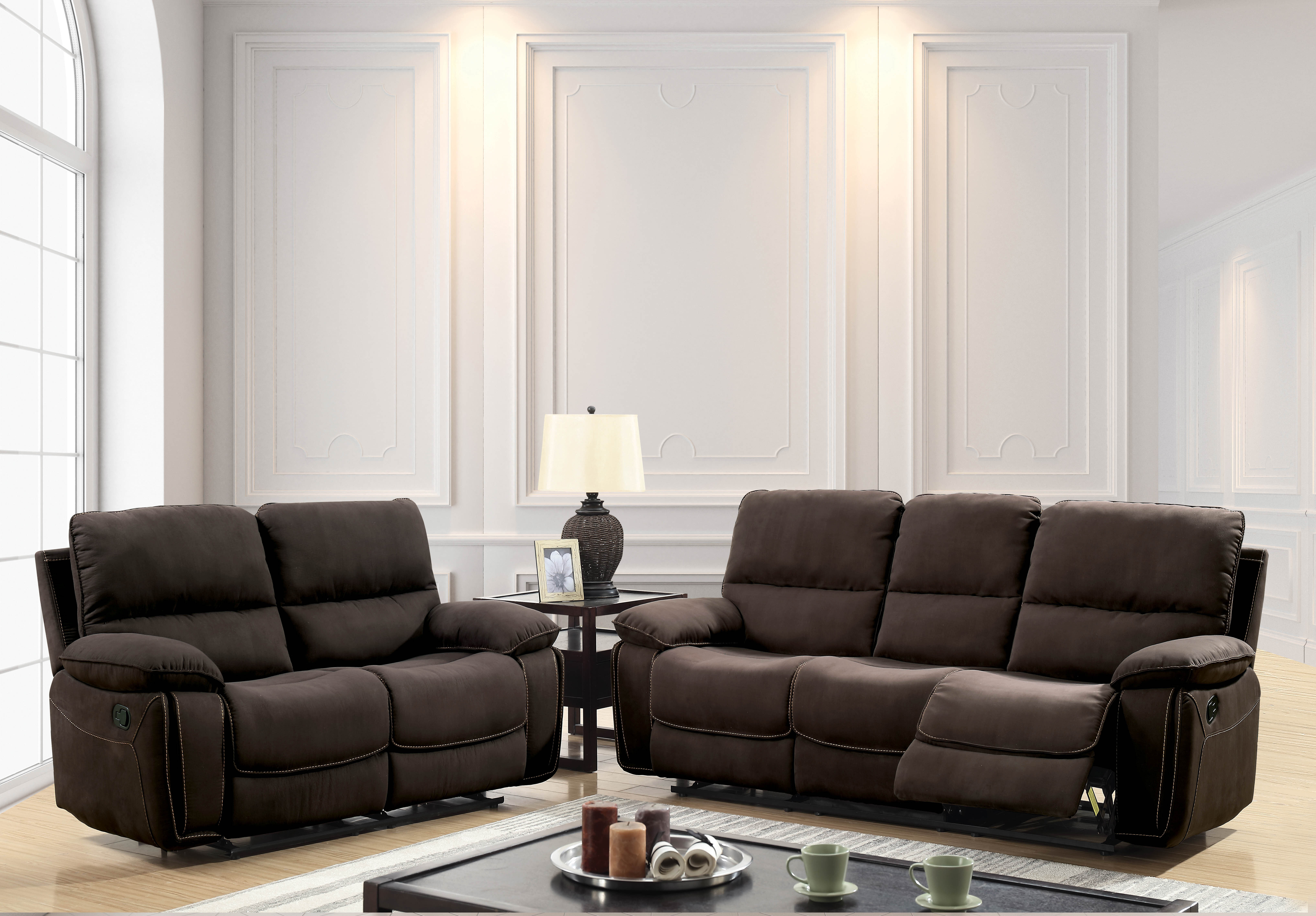 Jarmon Reclining Contemporary Configurable Living Room Set