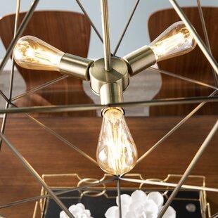 Williston Forge Silloth 3-Light Geometric Chandelier