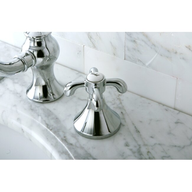 french country widespread chrome bathroom faucet