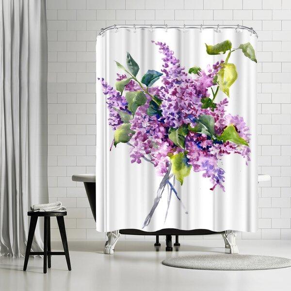 East Urban Home Suren Nersisyan Lilac Flowers 3 Single Shower Curtain Wayfair