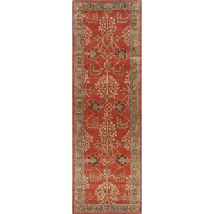 Trinningham Hand-Tufted Wool Orange/Brown Area Rug by Charlton Home