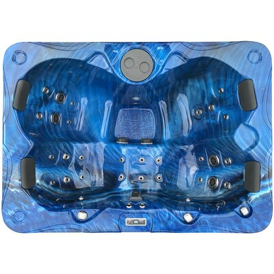 3 Person 55-jet Hot Tub With Led Light And Fountain Futuraspas