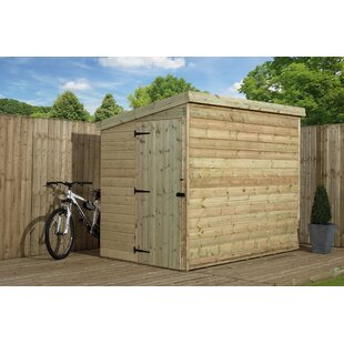 Boothill 6 Ft. W X 6 Ft. D Shiplap Pent Wooden Shed By Union Rustic