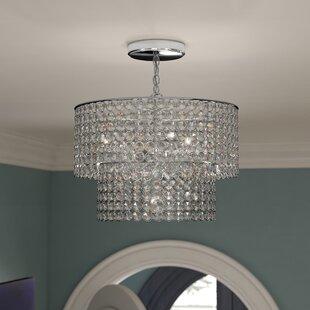 House of Hampton Carbon 5-Light Crystal Chandelier