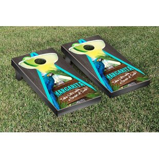 Victory Tailgate Margarita Beach Themed Onyx Stained Triangle Version 1 Cornhole Game Set
