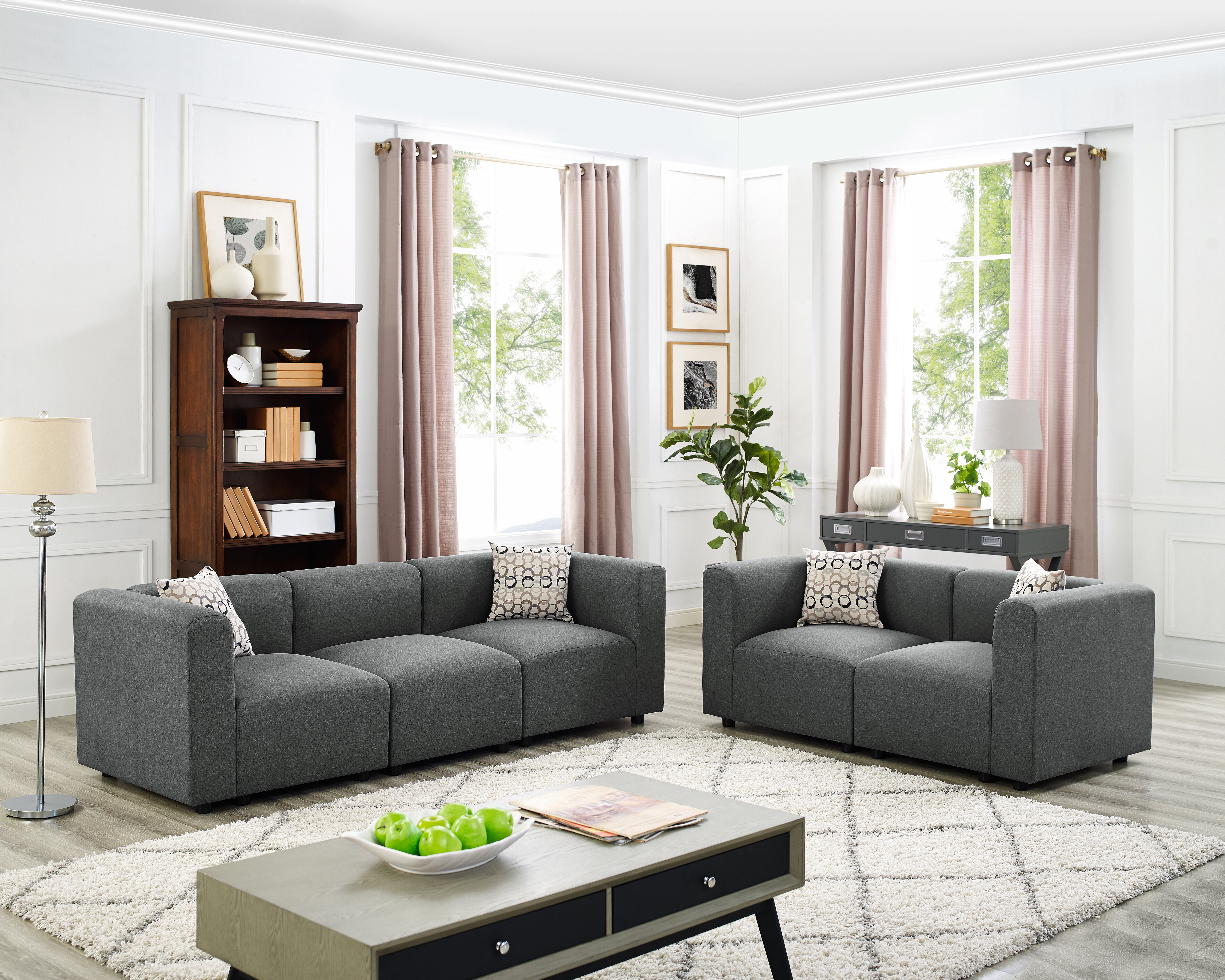 Lotte 2 Piece Living Room Set