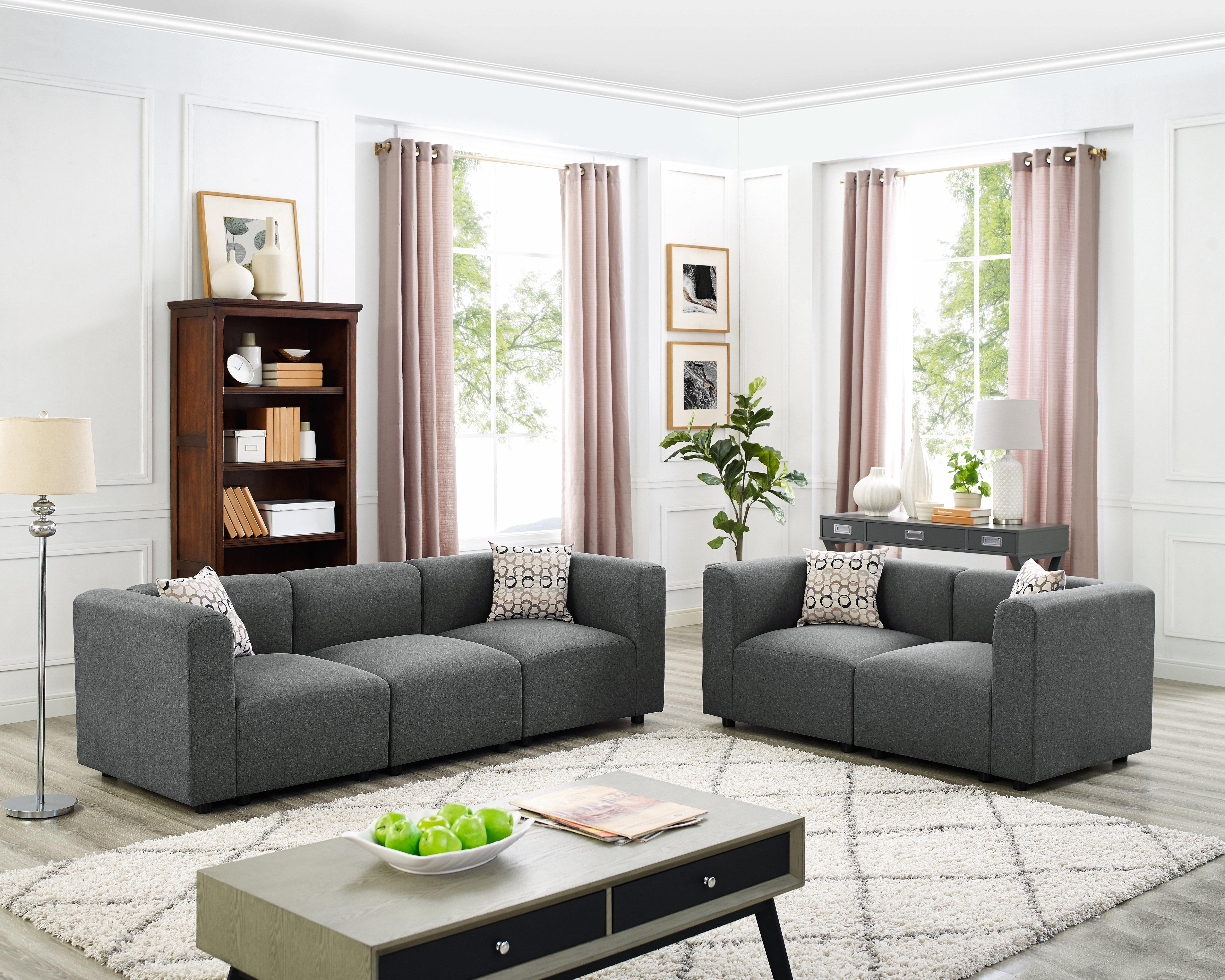 Zipcode Design Nash 2 Piece Modular Living Room Sofa Set | Wayfair