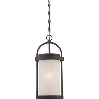 Ivy Bronx Feder 1 Bulb 17 88 H Integrated Led Outdoor Hanging Lantern Reviews Wayfair