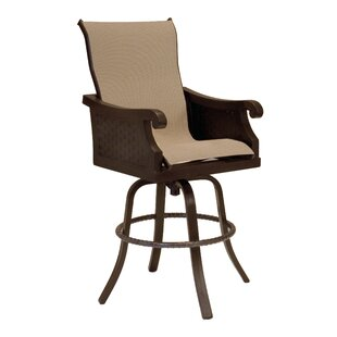 Leona Jakarta Sling Swivel Patio Bar Stool