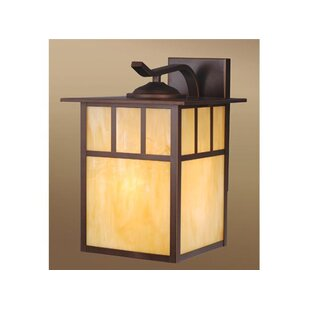 Affordable Price Joelle 1-Light 150W Outdoor Wall Lantern By Loon Peak