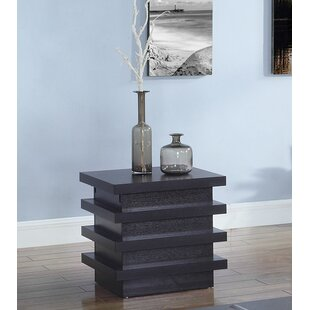 Rondel Contemporary Wooden End Table with Storage