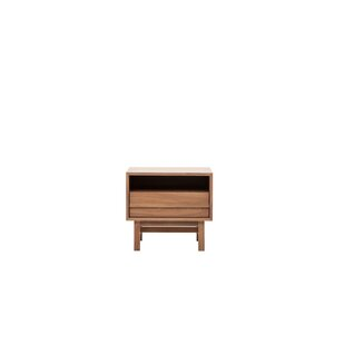 EQ3 Marcel Open Shelf 1 Drawer Nightstand