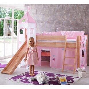 Jett European Single Mid Sleeper Bed With Tower By Harriet Bee
