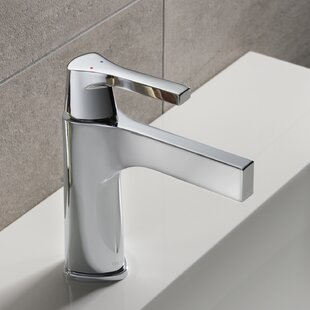Delta Zura Single hole Bathroom Faucet with Drain Assembly and Diamond Seal Technology