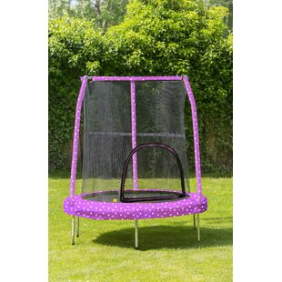 Princess 4.5' Trampoline With Safety Enclosure By Freeport Park