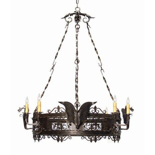 2nd Ave Design Dragone 8-Light Wagon Wheel Chandelier