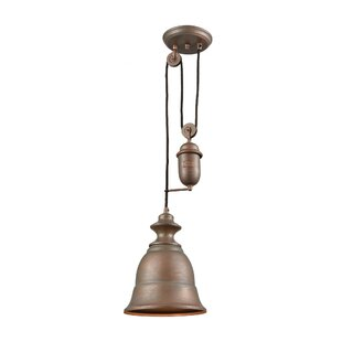 Laurel Foundry Modern Farmhouse Rodriques Pulldown 1-Light Bell Pendant