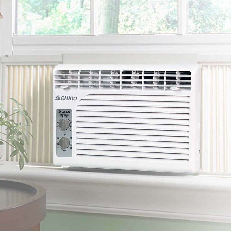 Bathroom Window Air Conditioner chigo 5,400 btu window air conditioner & reviews | wayfair