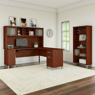 Kirchoff 3 Piece L-shaped Desk Office Suite by Ebern Designs New