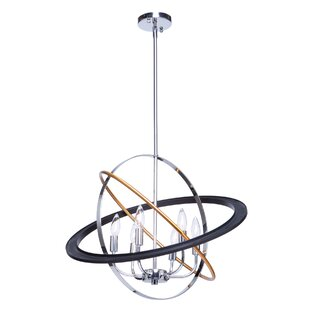 Cosmic 6-Light Geometric Chandelier by Artcraft Lighting