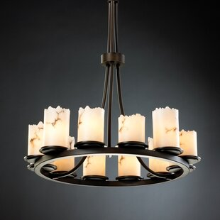 Salina 12-Light Wagon Wheel Chandelier by..