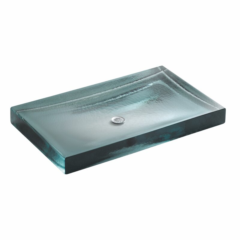 Delicieux Alteo Glass Rectangular Vessel Bathroom Sink
