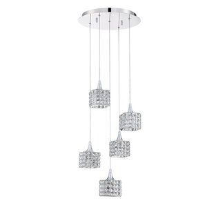 Hopkins 5-Light Cluster Pendant by Rosdorf Park