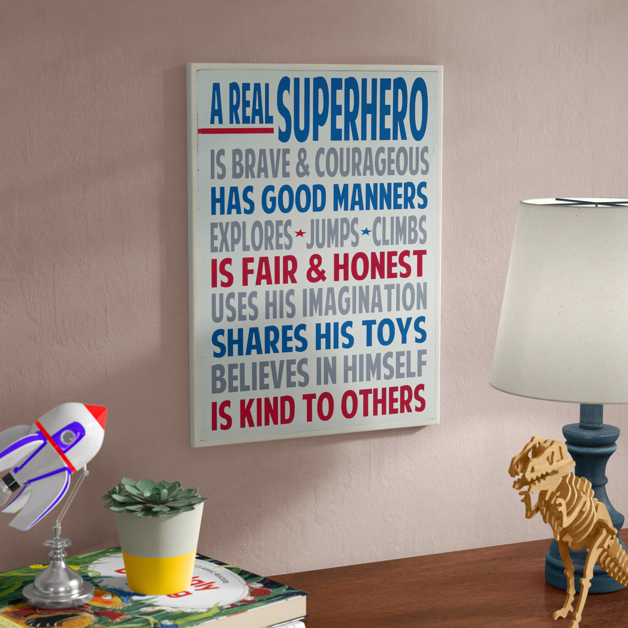 Andover Mills Baby Kids Stella A Real Superhero Wall Plaque Reviews Wayfair