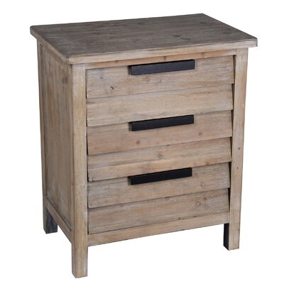 Alaina 3 Drawer Chest by August Grove