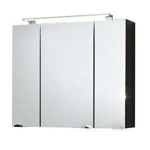 80cm X 68cm Surface Mount Mirror Cabinet With Lighting By Belfry Bathroom