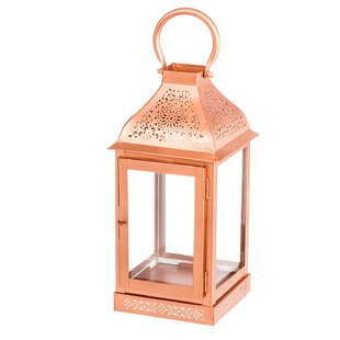 Bungalow Rose Metal/Glass Lantern