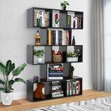 Borromäus 63.6 H X 41.7 W  Geometric Bookcase by Latitude Run®