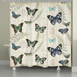 Affordable Cadel Flutters and Ferns Shower Curtain By Ophelia & Co.