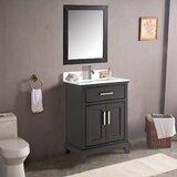 Valor 30 Single Bathroom Vanity Set with Mirror by Andover Mills™