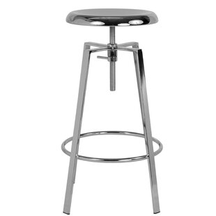 Armes Adjustable Height Swivel Bar Stool by Williston Forge