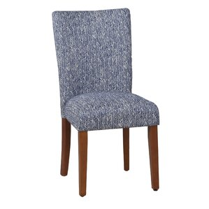 Ennis Upholstered Parsons Chair in Blue (..