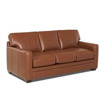 Jennifer Leather Sofa Bed & Reviews | Joss & Main