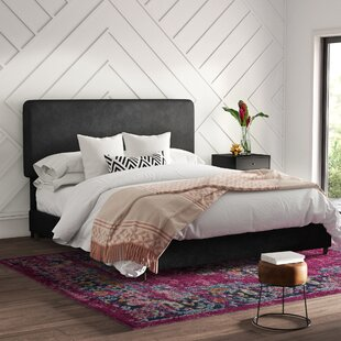 Bugg Velvet Upholstered Panel Bed