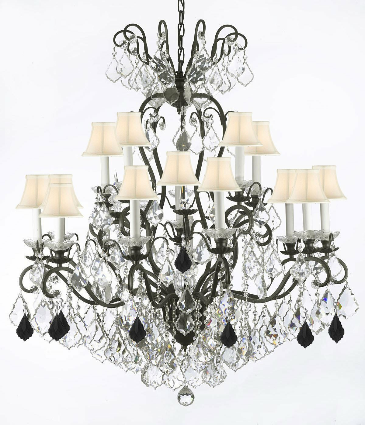 Astoria Grand Maclean 16 Light Shaded Empire Chandelier With Crystal Accents Accents Wayfair