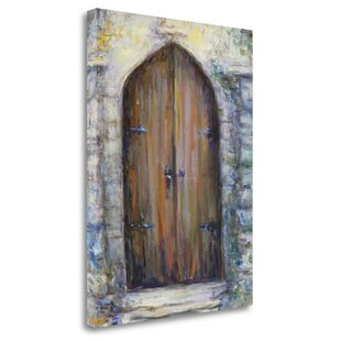 'The Door' Acrylic Painting Print on Wrapped Canvas by Red Barrel Studio