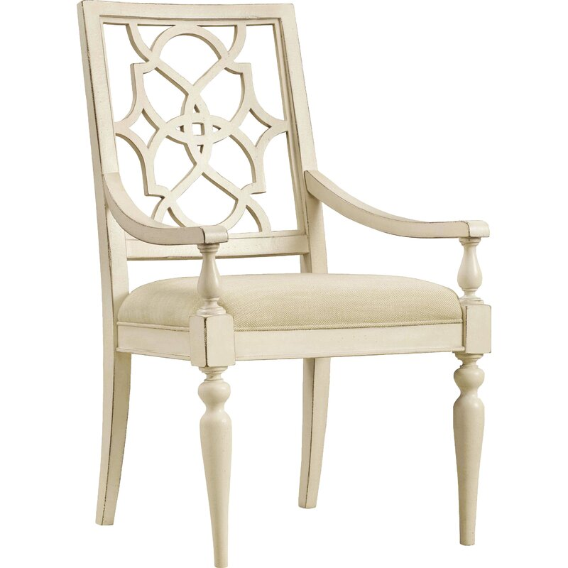 Birch Lane Likens Upholstered Dining Chair Beige Cream Wayfair