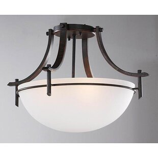 Fralick 3-Light Semi Flush Mount by Charlton Home