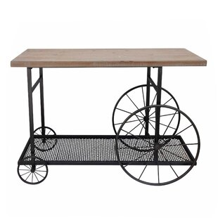 Fisk Kitchen Cart Solid Wood Gracie Oaks