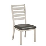 Garin Ladder Back Side Chair in White/Black (Set of 2) by Gracie Oaks
